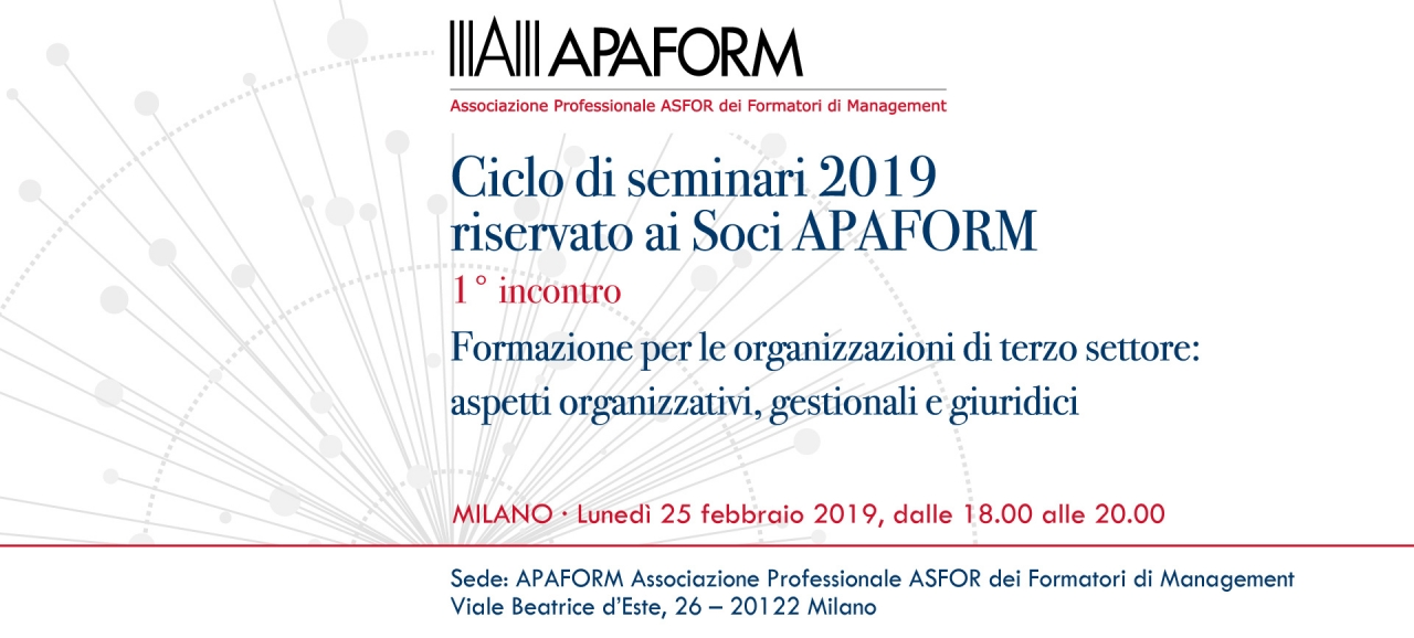 SAVE THE DATE - 25 febbraio 2019